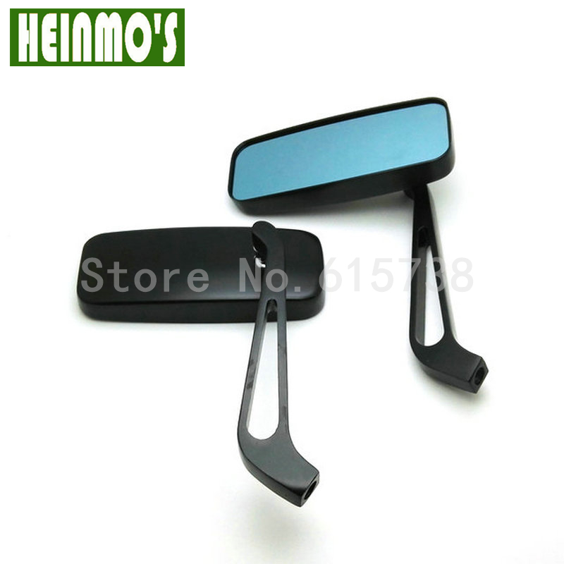 1 PAIR Motorcycle Mirror moto bike Rearview Mirror Rear-View Mirrors Alloy Motorcycle Rear View Mirrors 8mm/10mm Blue qc m prince universal 0 8mm motorcycle rearview mirror silver black pair