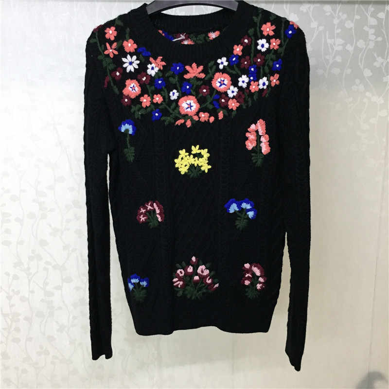 Winter Sweater for Women Wool Fashion Long Sleeve O-neck High Quality Lady Pullovers for Party 2018 New Autumn Sweater