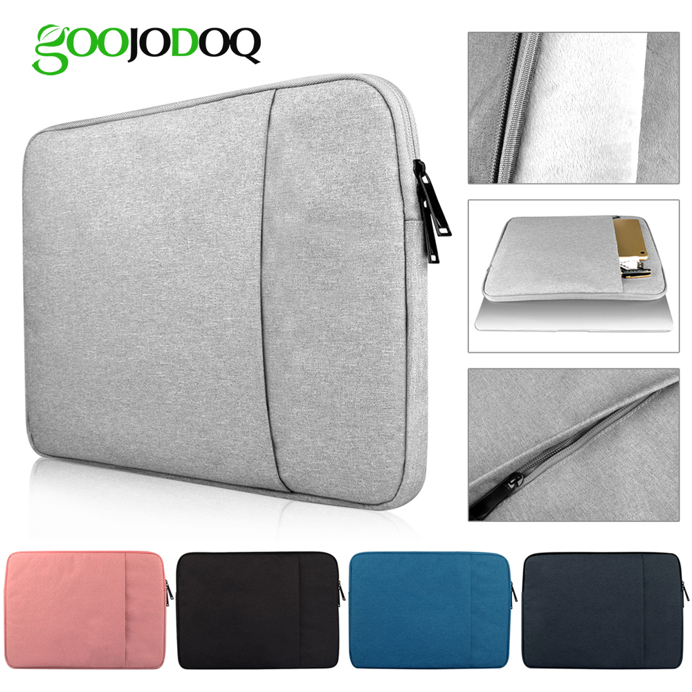 цена GOOJODOQ Laptop Sleeve Notebook Bag Pouch Case for Macbook Air 11 13 12 14 15 13.3 15.4 15.6 for Lenovo ASUS/Surface Pro 3 Pro 4
