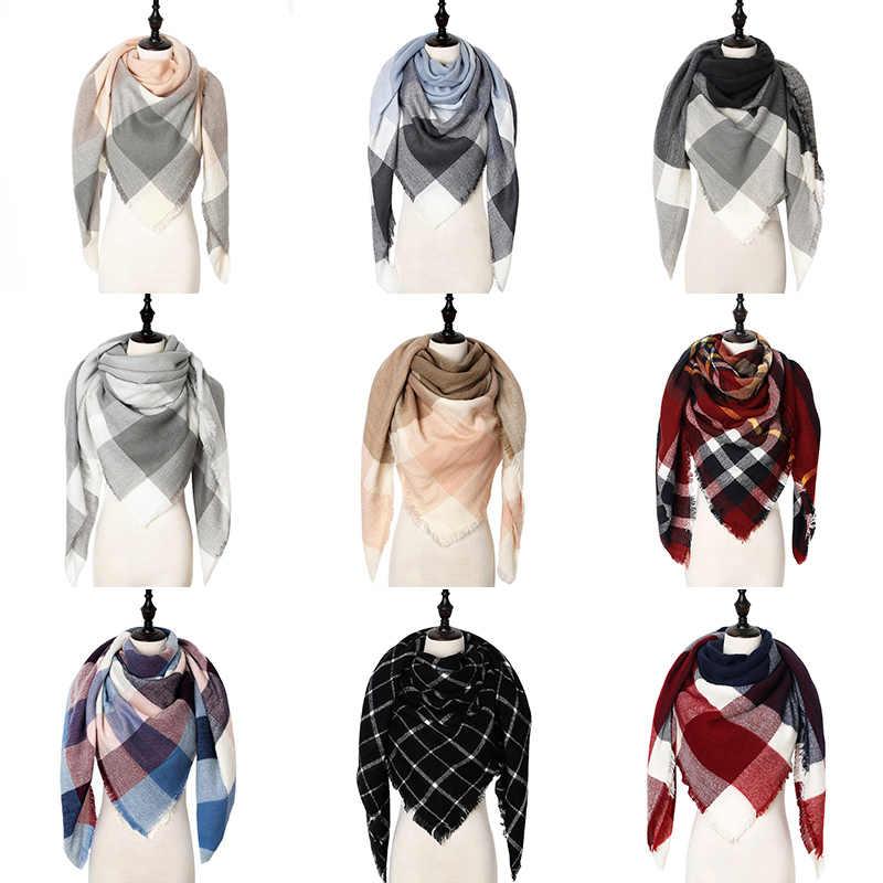 Projektant zima kobiety szalik chusta ciepłe kaszmirowe chustki szale damskie luksusowa marka Pashmina szalik Lady koc okłady 2019