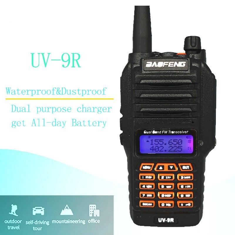 UV-9R BaoFeng 8 W étanche talkie-walkie pour CB Ham Radio Station 10 km bidirectionnelle Radio IP67 double bande Uhf Vhf FM émetteur-récepteur UV9R