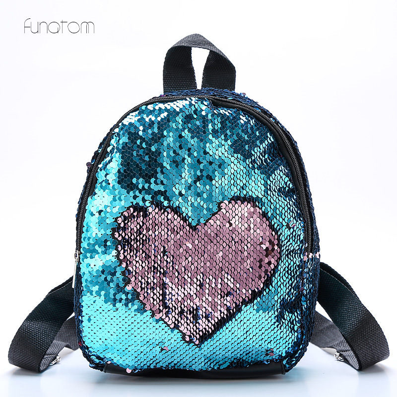 Portable Women Sequins Bling Backpack Girls Mini School Bags for Teenage Small Travel Bag Mochila