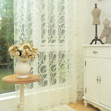 Diseño sin fin blanco panel pura cortina de tul cortina de hilo para el dormitorio cortinas cortinas para la sala de estar