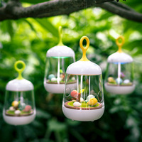 Creative Lovely Birdcage Music LED Night Light USB Rechargeable Touch Table Bird Light Portable Night Lamp