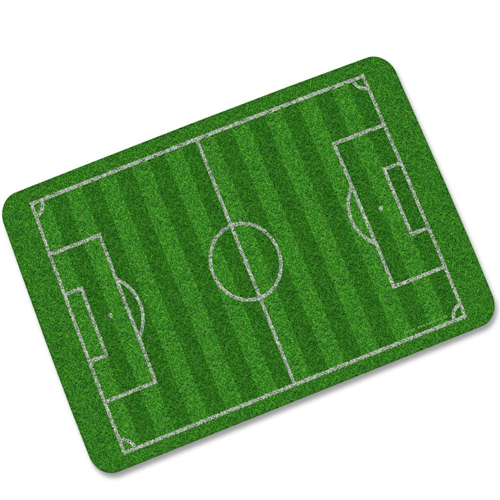 Soccer field lawn Carpet Natural rubber Mats Soccer Anti-skid Absorbent Basketball Carpet living room Mat Bathroom Rug