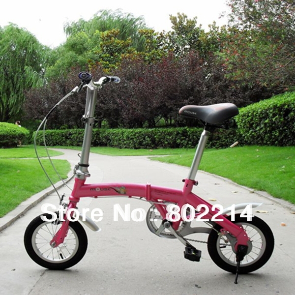 "Free Shipping High Quality 12"" Mini Children's Bike Adjustable Folding Bicycle Kid's Bike"