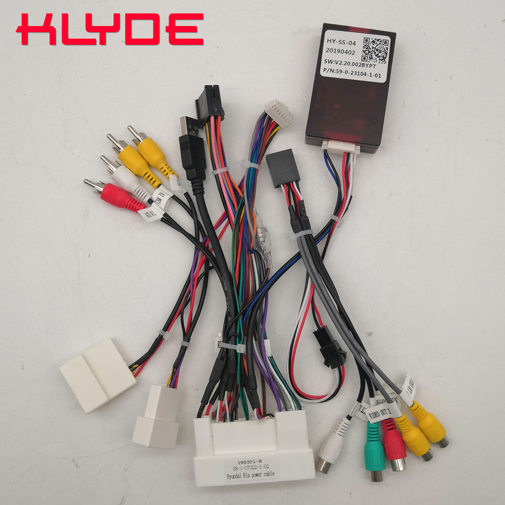Klyde Power-Harness Amplifier Canbus-Decoder-Box Car-Radio Rear-Camera Hyundai with