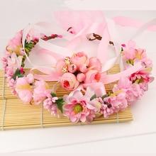 Hair Accessories Girls Headbands Rose Flowers Crown Wedding Accessory Floral Garlands Headband for Women Headwear