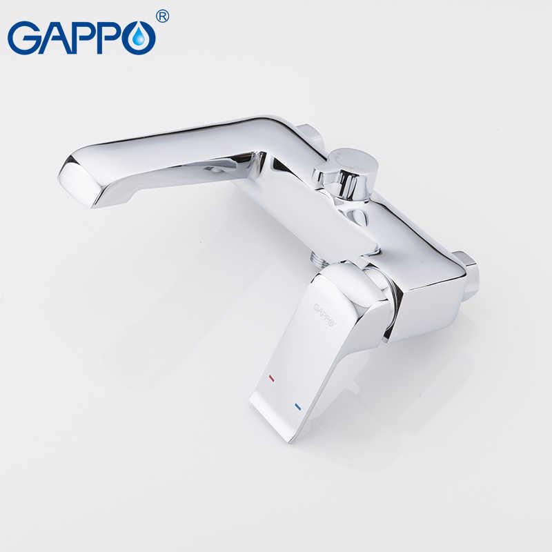 GAPPO 高品質クロームメッキ浴槽の蛇口ウォールマウントとハンドシャワーバスタブの蛇口浴室ミキサータップバスタップ