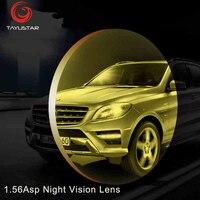 1.56ASPナイトビジョンメガネレンズ黄色レンズナイトビジョン駆動させるためのため運転アンチグレア100%処方レン