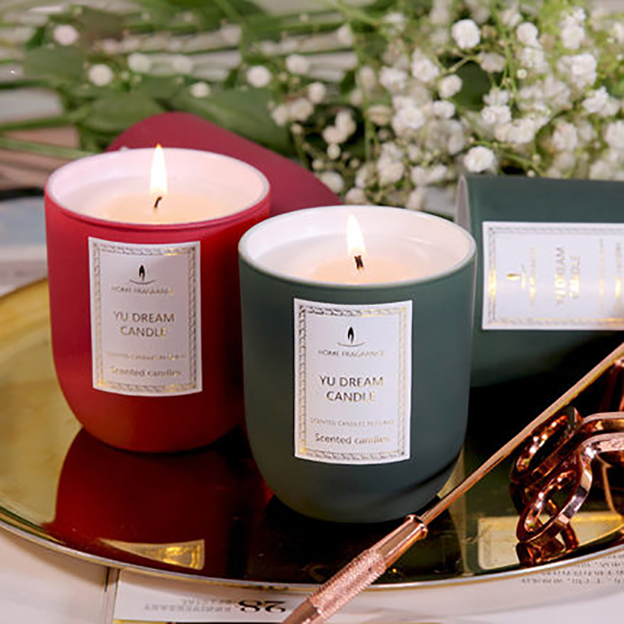 Natural Essential Oil Scented Candles In Glass Wedding Decoration Soy Wax Christmas Birthday Home 50X052