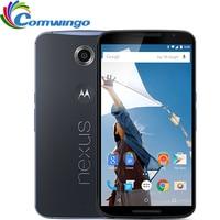 Оригинальный Motorola Google Nexus 6 XT1103 XT1100 3 ГБ ОЗУ 32 ГБ/64 Гб ПЗУ Четырехъядерный 4G LTE сотовый телефон 5,96 дюймовый 13MP Восстановленный