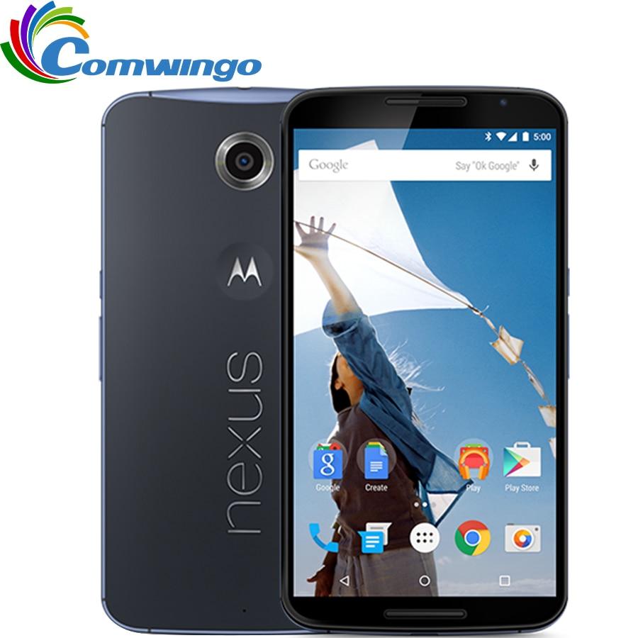Original Motorola Google Nexus 6 XT1103 XT1100 3GB RAM 32GB/64GB ROM Quad Core 4G LTE Cell Phone 5.96 inch 13MP Refurbished