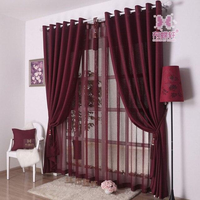 Moderno estilo simple color sólido gris barato Cortinas para sala de ...