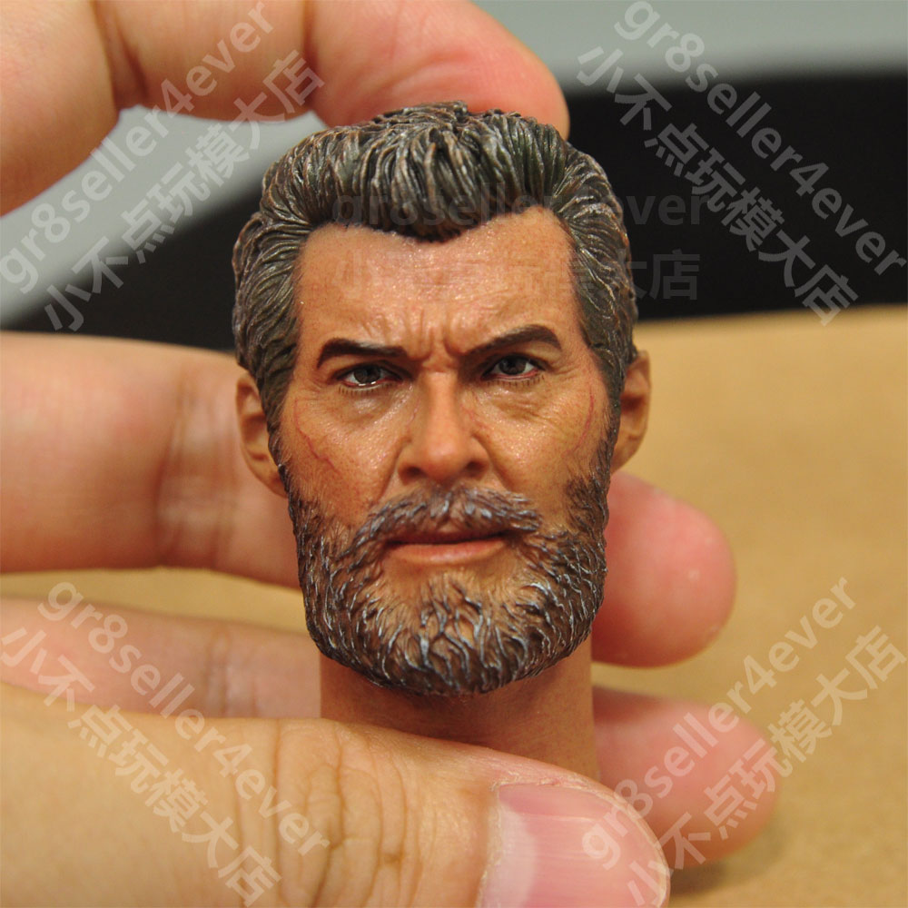 birning soul 1/6 scale Head Sculpt old age Wolverine 3 ...