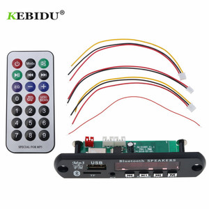 Image 2 - KebiduรถUSB Bluetoothบลูทูธโมดูล5V 12Vไร้สายบลูทูธ4.1 MP3 WMAถอดรหัสคณะกรรมการไร้สายUSB FM Auxวิทยุ