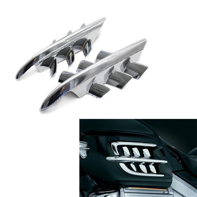 For Honda Goldwing GL1800 GL 1800 2001-2010 2009 2002 Motorcycle Chrome Shark Gills Fairing