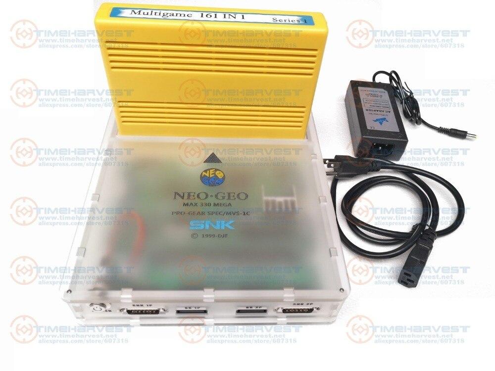 JAMMA CBOX MVS SNK NEOGEO MVS-1C CMVS con 161 in 1 Cartuccia di Gioco per 15 p SNK Joypad SS Gamepad RGBS YCBCR uscita AV per la TV