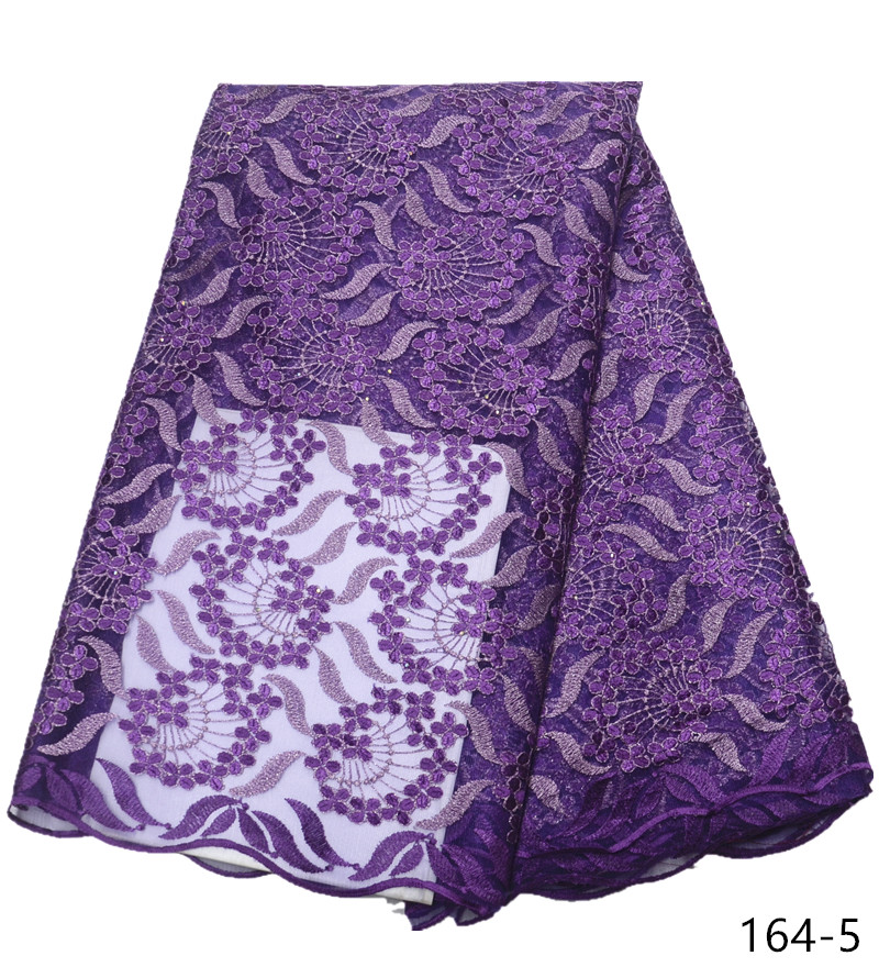 Hot Sale Nigeria Lace Fabric High Quality French Lace Fabric For Wedding Dress African Lace Fabric For Women 164 in Lace from Home Garden