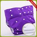 Ajustables Pantalones de La Incontinencia de Adultos Impermeable pañal de Tela Pañal Reutilizable PUL (1 unids pañales + 2 unids insertar)