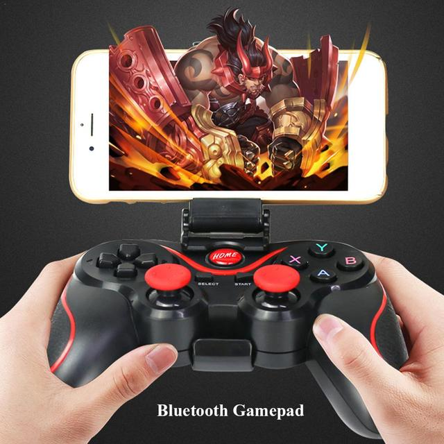 T3 Bluetooth Gamepad Joystick For Android Wireless Gaming S600 STB S3VR Game Controller for Mobile Phones PC 3