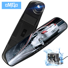 OMGO Auto Dvr Dash Cam Dual Len Posteriore Specchietto retrovisore Auto Dashcam Recorder Registrator In Auto Video Full Hd Dash macchina fotografica Del Veicolo