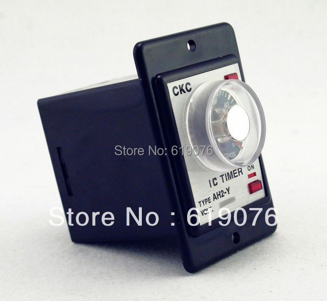 Power on delay timer time relay 0-60 seconds panel with PF083A Socket Base  high quality hhs6a correct time countdown intelligence number show time relay bring power failure memory ac220v