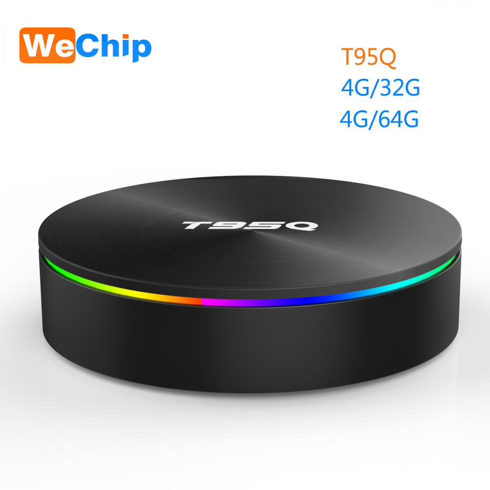 Wechip T95Q 4G+64G Android 9.0  LPDDR3 Amlogic S905X2 TV BOX Quad Core 2.4G+5GHz Wifi BT4.1 1000M H.265 4K 4G+32G Media Player