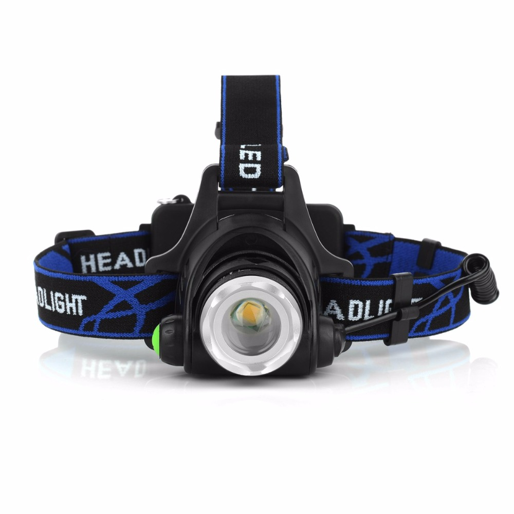 Super Bright Warm Yellow Light Head Lamp Waterproof Zoomable LED Head Light