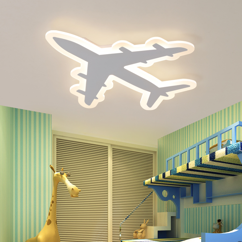 Image 3 - DIY Acrylic Airplane LED Ceiling Light  Modern Kids Bedroom Ceiling lamp  decorative home indoor lighting-in Ceiling Lights from Lights & Lighting