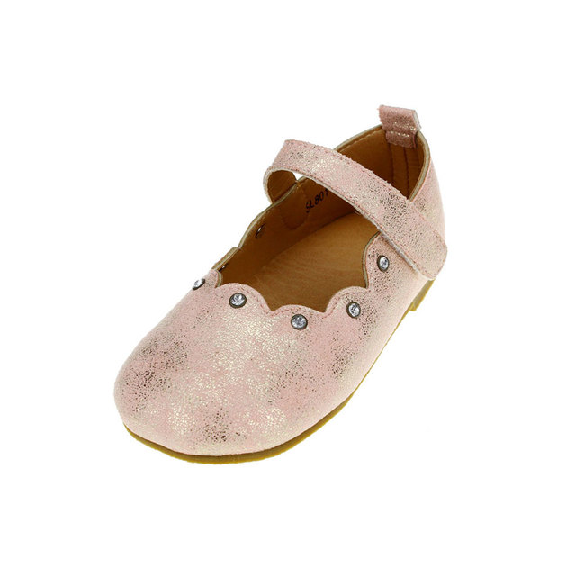 MSMAX Genuine Leather Children Single Shoes Pink Beading Oxford Girls Dress  Party Shoes Flat Princess Kids Ladies Wedding Shoes dc986de9c75c
