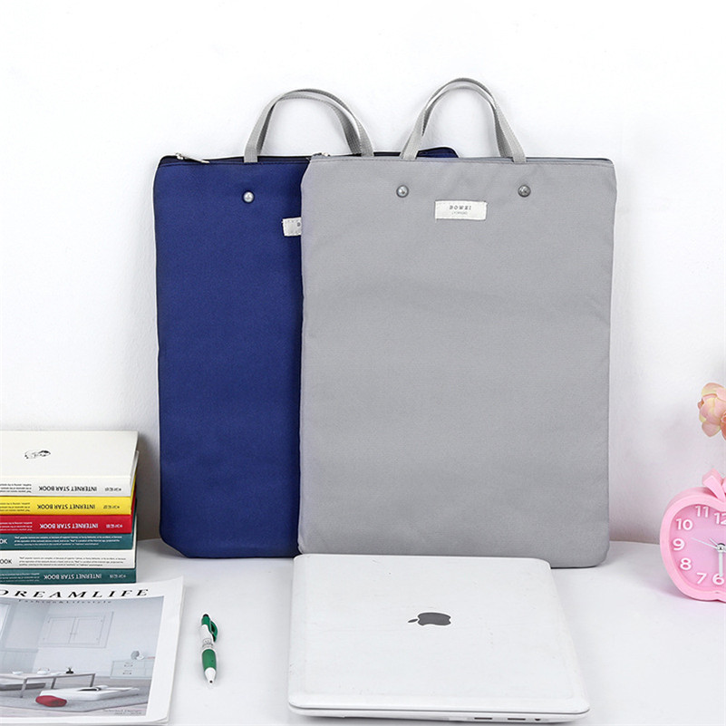 Creative Zipper Document Bag Oxford Resist-wear Briefcase Students Children IPad Document Cover File Bag Meeting Package