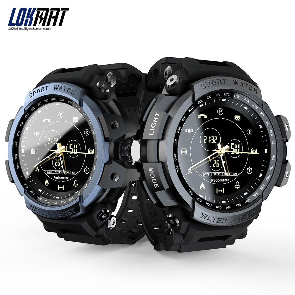LOKMAT Sport Smart Watch Professional 5ATM Waterproof Bluetooth Call Reminder Digital Men Clock SmartWatch For ios and Android(China)