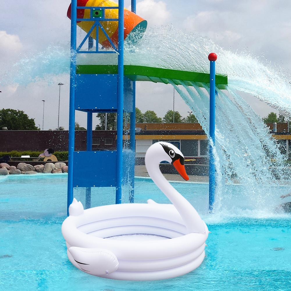INS Hot Sale Inflatable White Swan Shaped Children Baby Swimming Pool
