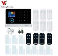 Yobang Security Alarm APP Control Home Burglar Security Wireless Wifi Gsm Alarm System PIR Motion Detector