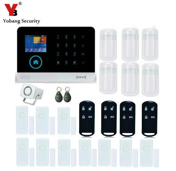 Yobang Security alarm APP Control Home Burglar Security Wireless Wifi Gsm Alarm System PIR Motion Detector Sensor Remote Control yobang security wifi gsm wireless pir home security sms alarm system glass break sensor smoke detector for home protection