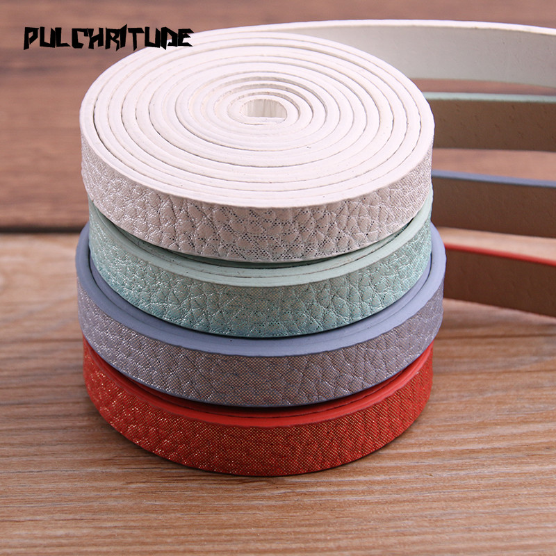 1pcs 120 X 10mm Flat PU Leather Cord & Rope Diy Jewelry Findings Accessories Fashion Jewelry Making Material For Bracelet