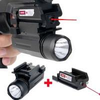 טקטי ראיית לייזר Red Dot ומשולב פנס LED ציד אבזרים רובים אקדח גלוק 17,19, 20,21, 22,23, 30,31, 32