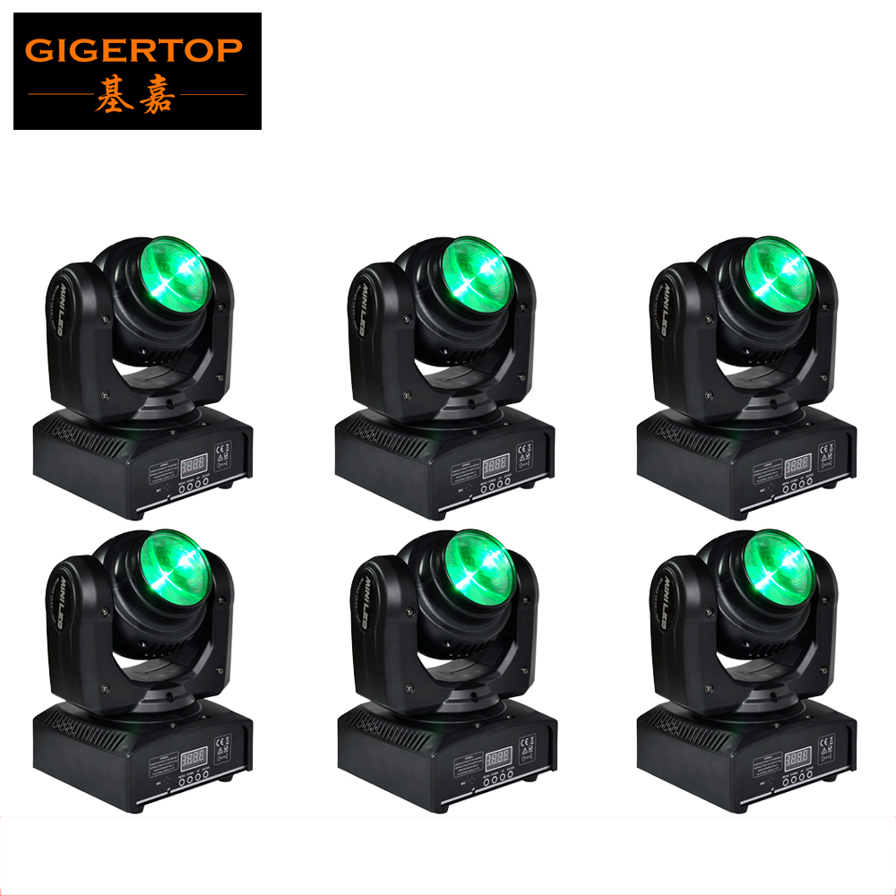 2015 HOT SELL 6pcs/lot TIPTOP Stage Light 40W Mini Led Moving Head Light DMX LumiEngin Cu RGBW Beam Dj Scanner Runda Cooling Fan
