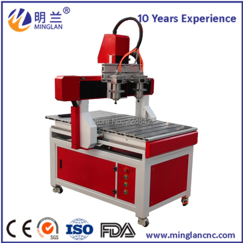 Two spindle cnc machine 6090 cnc router engraving machine Multi-head engraving machineTwo spindle cnc machine 6090 cnc router engraving machine Multi-head engraving machine