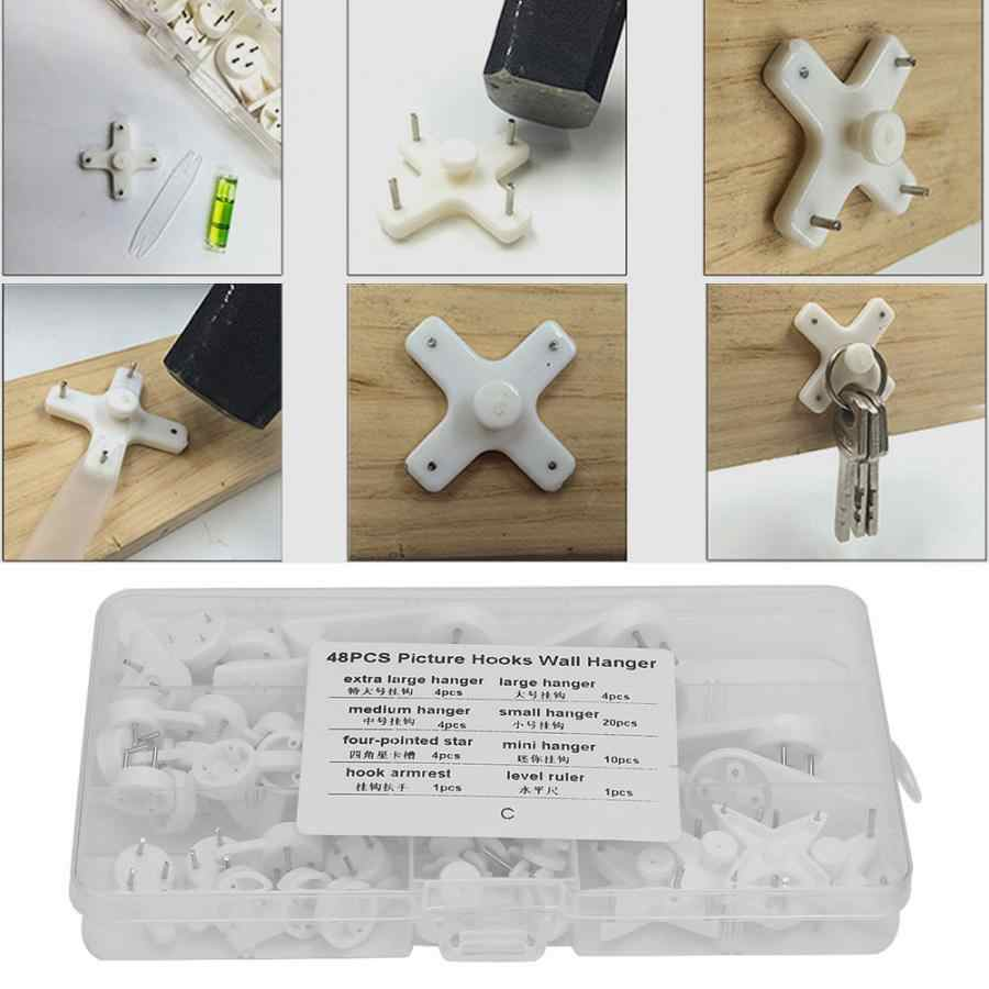 48pcs Without Mark Picture Hooks Wall Hanger Kit Hook Suit for Photos Frame wall frame hanger wall nail