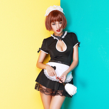 Sexy Lingerie Uniform Temptation Open Bust Maid Dress Suit Pure Love Cute Little Cook Set 222