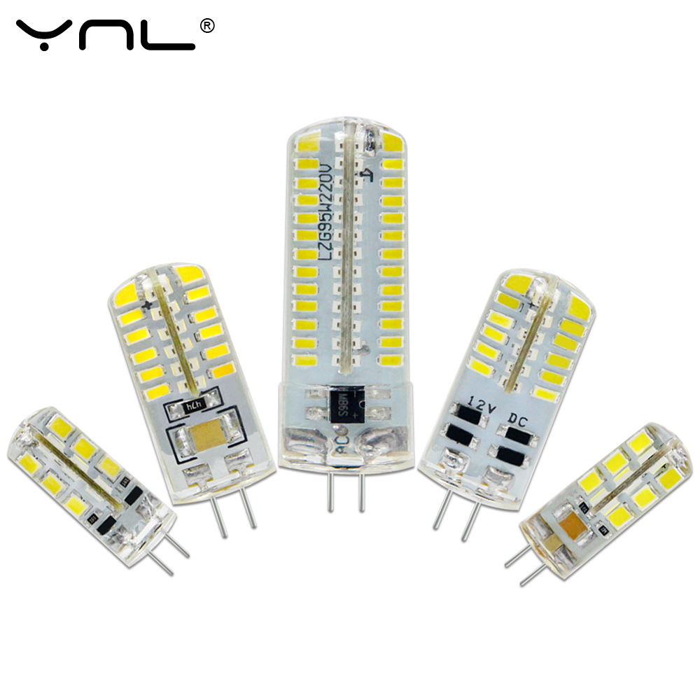 YNL LED G4 3014 SMD 3W 5W DC 12V G4 LED Lamp 20W halogen lamp g4 led 12v Corn Bulb Silicone Lamps Chandeliers Lighting 5w g9 45 x smd 3014 6500k silicone led corn lamp crystal spotlight bulb