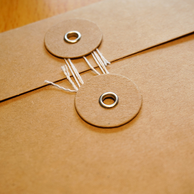 Image 3 - 50pieces/set of vintage buckled kraft paper blank paper window envelope wedding invitation envelope/gift envelope/thick postcard-in Paper Envelopes from Office & School Supplies