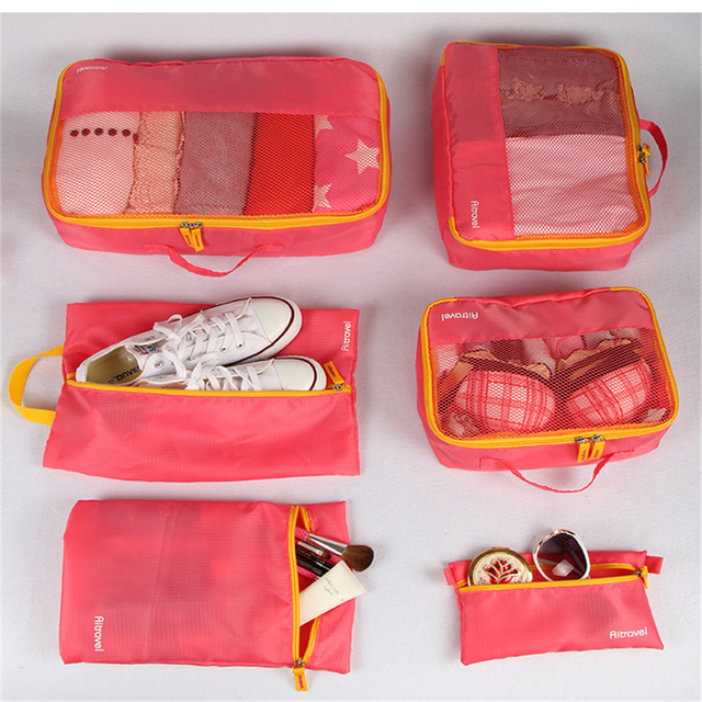 741c34cfc0cf US $23.83 |6pcs/set travel storage bags waterproof suitcase bag organizer  for clothes tidy organizer home closet divider container-in Storage Boxes &  ...