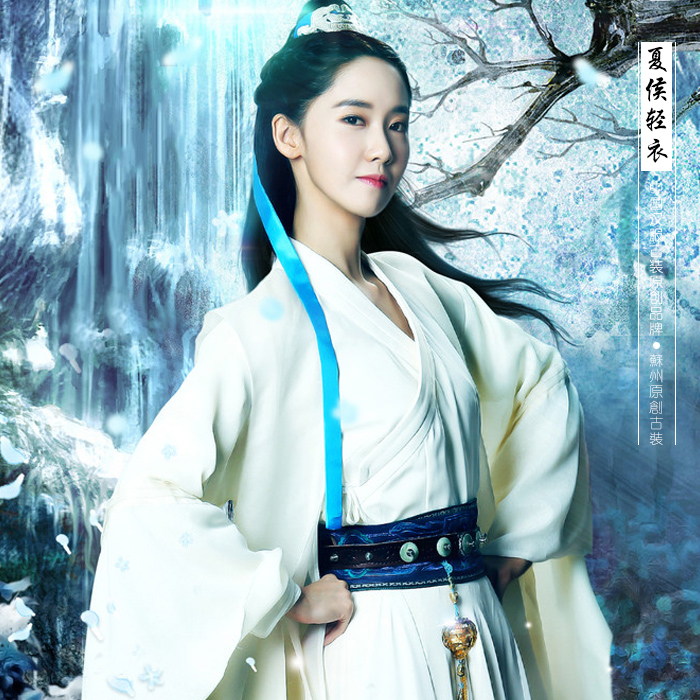 White Swordlady Costume TV Play Chinese Hero-Zhao ZiLong Of Three Kingdoms Period Actress Same Design Drama Costume Hanfu