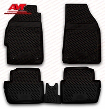 Floor mats case for Chevrolet Spark 2010- 4 pcs rubber rugs non slip rubber interior car styling accessories