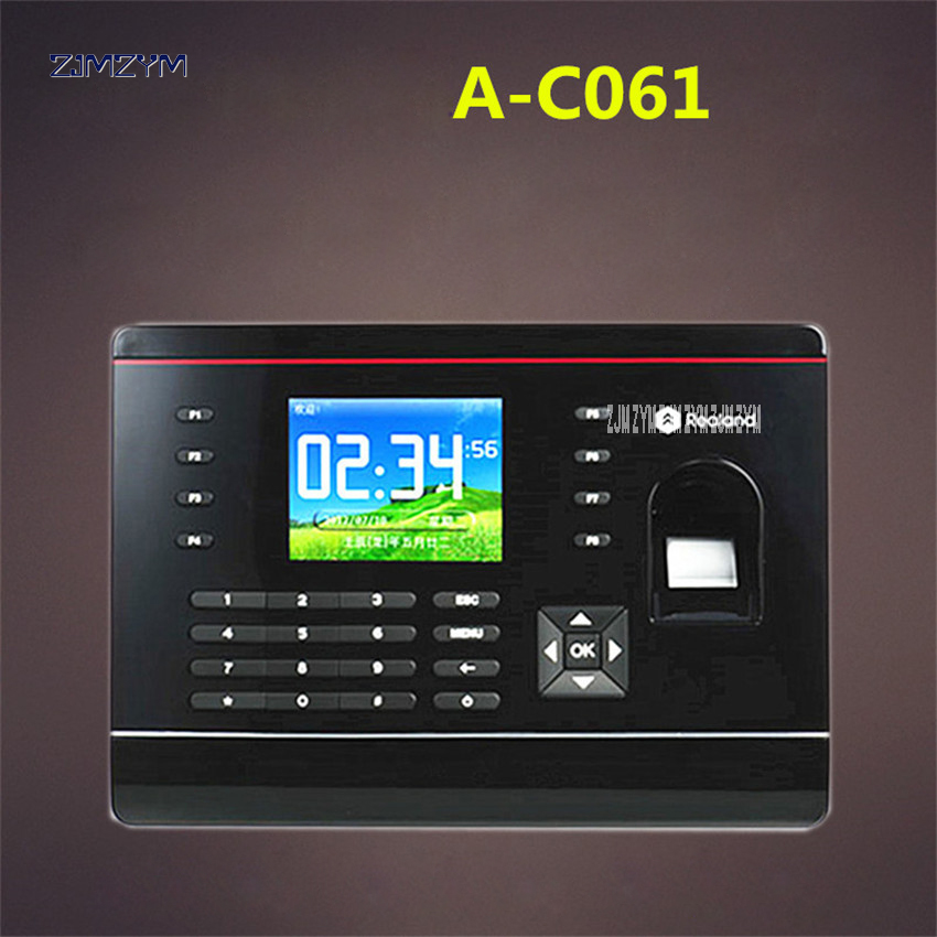 A-C061 2.8 inch TFT Biometric Fingerprint Time Attendance Recorder Fingerprint ID card attendance machine with network U disk free shipping a c061 biometric fingerprint time clock realand biometric fingerprint time attendance