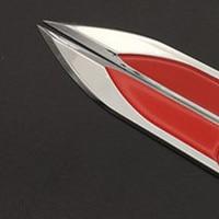 Image 2 - 20 pairs 3d chromed 블랙 레드 엠블럼 배지 데칼 스티커 로고 펜더 사이드 메탈 골프 mk4 mk5 mk6 골프 gti 5 6 7