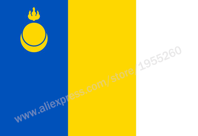 Flag of Agin-Buryat Autonomous Okrug 3 x 5 FT 90 x 150 cm Flags of the federal subjects of Russia Banners